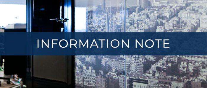 INFORMATION NOTE - AUGUSTA ABOGADOS