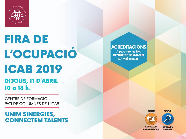 Augusta Abogados serà present l'11 d'abril a la Fira de l'Ocupació de l'ICAB