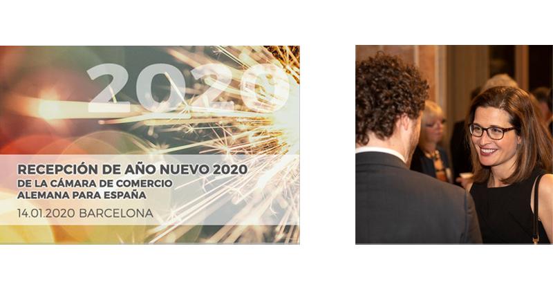 Recepción Año Nuevo Barcelona Cámara de Comercio Alemana para España Alba Rodenas