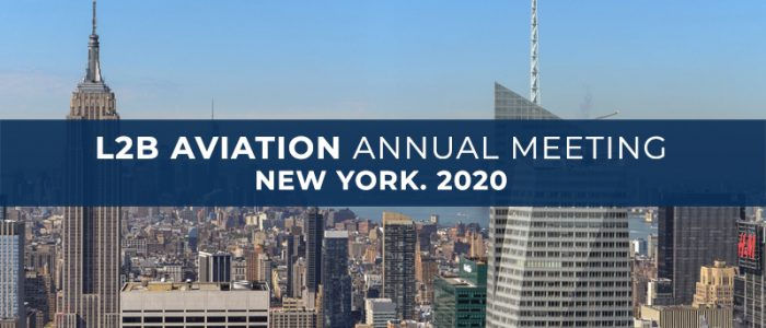 L2B Aviation annual meeting in New York. 2020